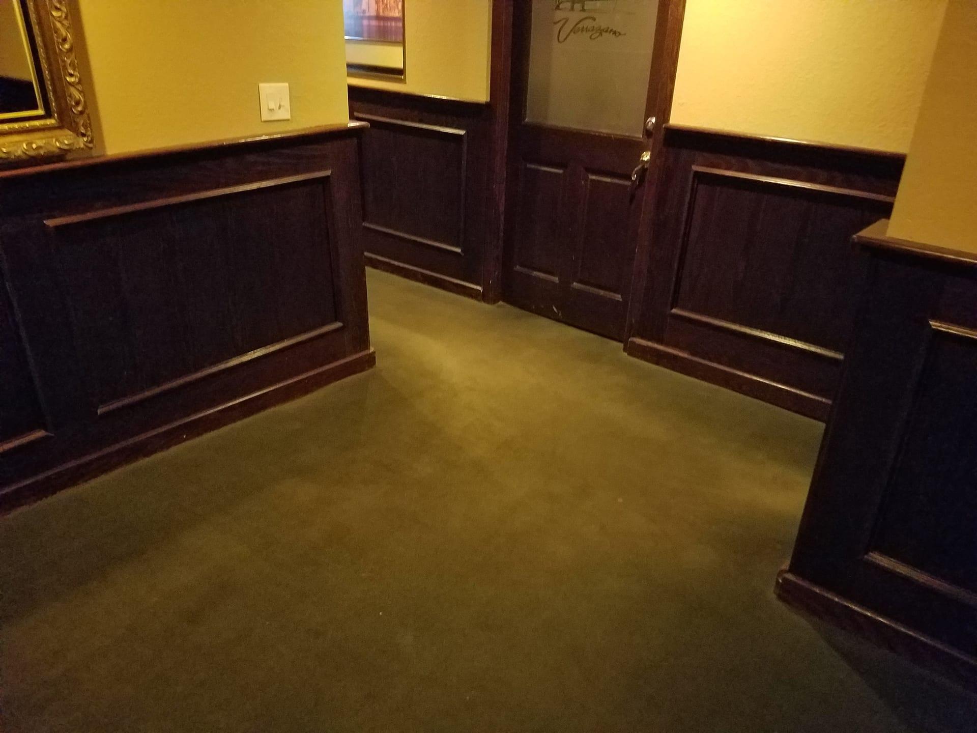 restaurant floor before